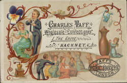 Tradecard for Charles Taff, confectioner
